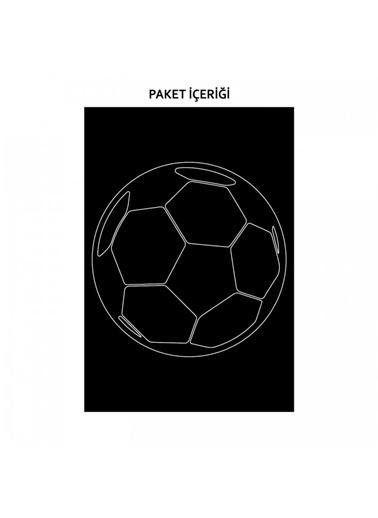 Artikel Futbol Topu Araç Sticker 21x29 cm Araba Sticker, Oto Sticker, Araç Aksesuarı Renkli